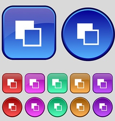 Active color toolbar icon sign A set of twelve vector image vector image