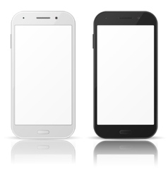 Black and white mobile phones vector image vector image
