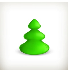 Christmas tree green vector image vector image