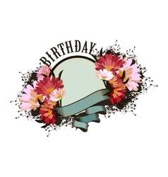 Greeting card birthday vector image