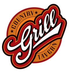 Grill hand lettering design vector