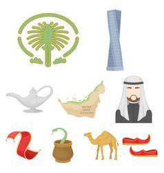 arab emirates set icons in cartoon style big vector image vector image