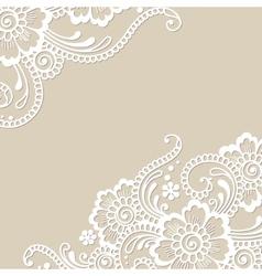 Flower ornament corner vector