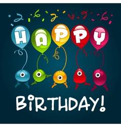 Happy Birthday Monsters vector image