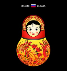 Matryoshka Russia vector image vector image