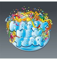 new year tag vector image vector image