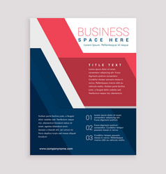 red and blue geometric brochure design template vector image vector image
