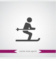 ski icon simple vector image