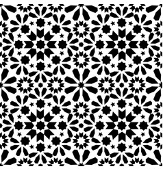 Spanish moroccan tiles tile pattern - black vector