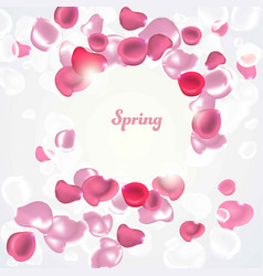 Abstract background with falling petals vector