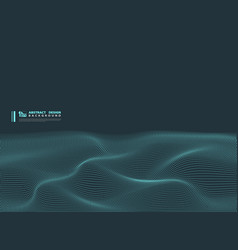 Abstract blue particle wavy technology design vector