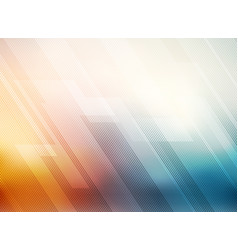 abstract lines pattern technology on red and blue vector image