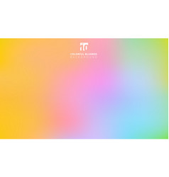 abstract rainbow colorful smooth blurred gradient vector image