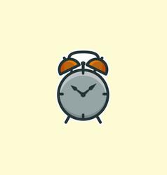 alarm clock icon logo concept vector image
