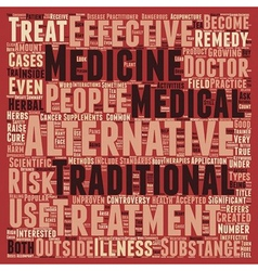 Are Alternative Medicines Effective text vector