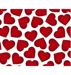 Background of red hearts on the day of the holiday vector