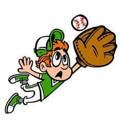 Baseball Player Kid cartoon vector image