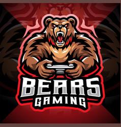 Bears gaming esport mascot logo design vector