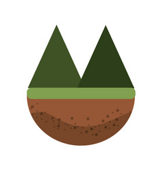 Beautyful and natural mountains ecology vector