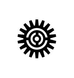 Bicycle crank chainwheel icon vector