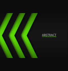 black and green overlayed arrows abstract modern vector image