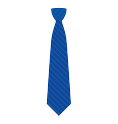 Blue tie icon flat style vector