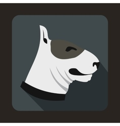 Bull terrier dog icon flat style vector image