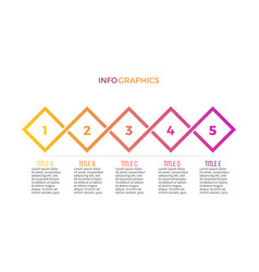 business infographics presentation slide diagram vector image