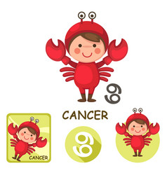 cancer collection zodiac signs vector image