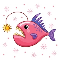 Cartoon angler fish vector image