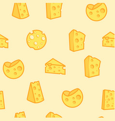 cheese seamless pattern appetizing milk product vector image