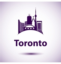 City skyline with landmarks Toronto Ontario vector