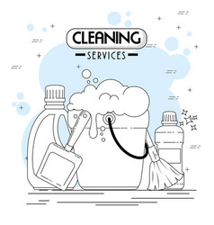 cleaning services emblems and logos vector image