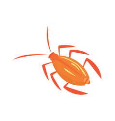 Cockroach insect cartoon i vector