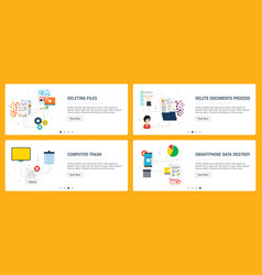 deleting data files and documents vector image