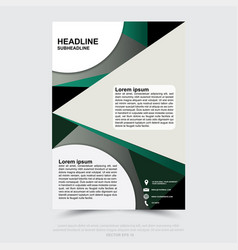 design of business brochure poster web banner vector image