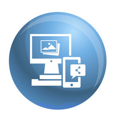 Digital computer device icon simple style vector
