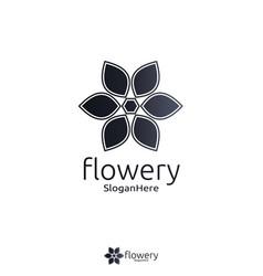 elegant flower logo icon design with gradient vector image