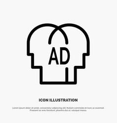 Elementary knowledge abc brian line icon vector