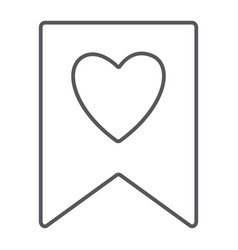 favourite thin line icon mark and favorite vector image