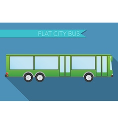 Flat design city transportation city bus side view vector