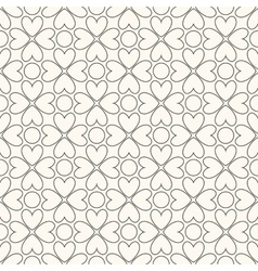 Floral seamless pattern Black and white colors vector image