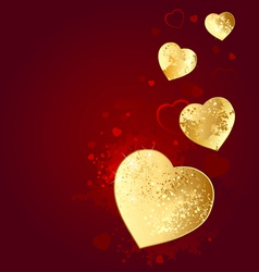 foil heart vector image vector image