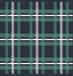 Folklore plaid with periwinkle seamless vector