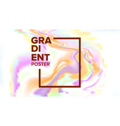 gradient fluid background magazine blank vector image