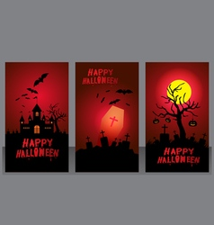 Halloween night card design vector