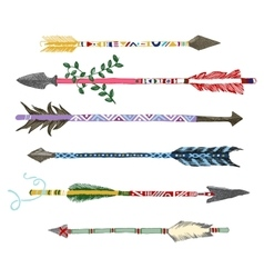 hand drawn arrows in tribal style vector image