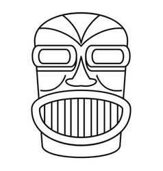 Hawaii idol head icon outline style vector