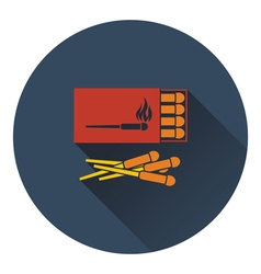 Icon of match box vector image