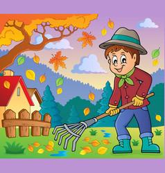 Image with gardener theme 4 vector